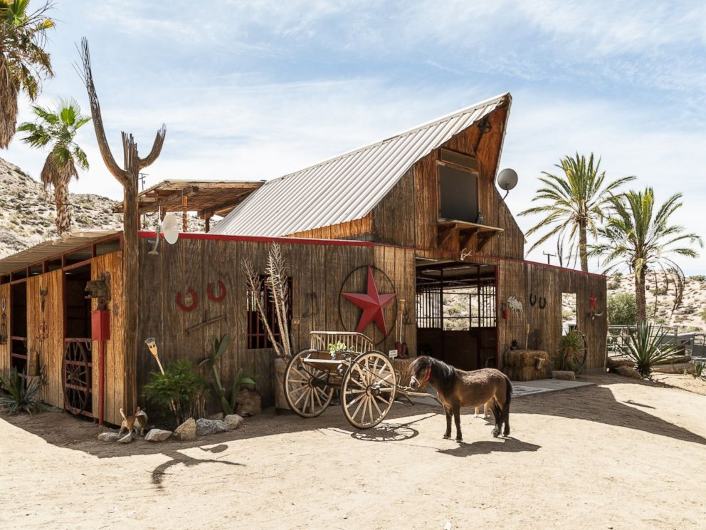 PHOTO: The Love Nest is located inside a barn, located in Morongo Valley, Calif.