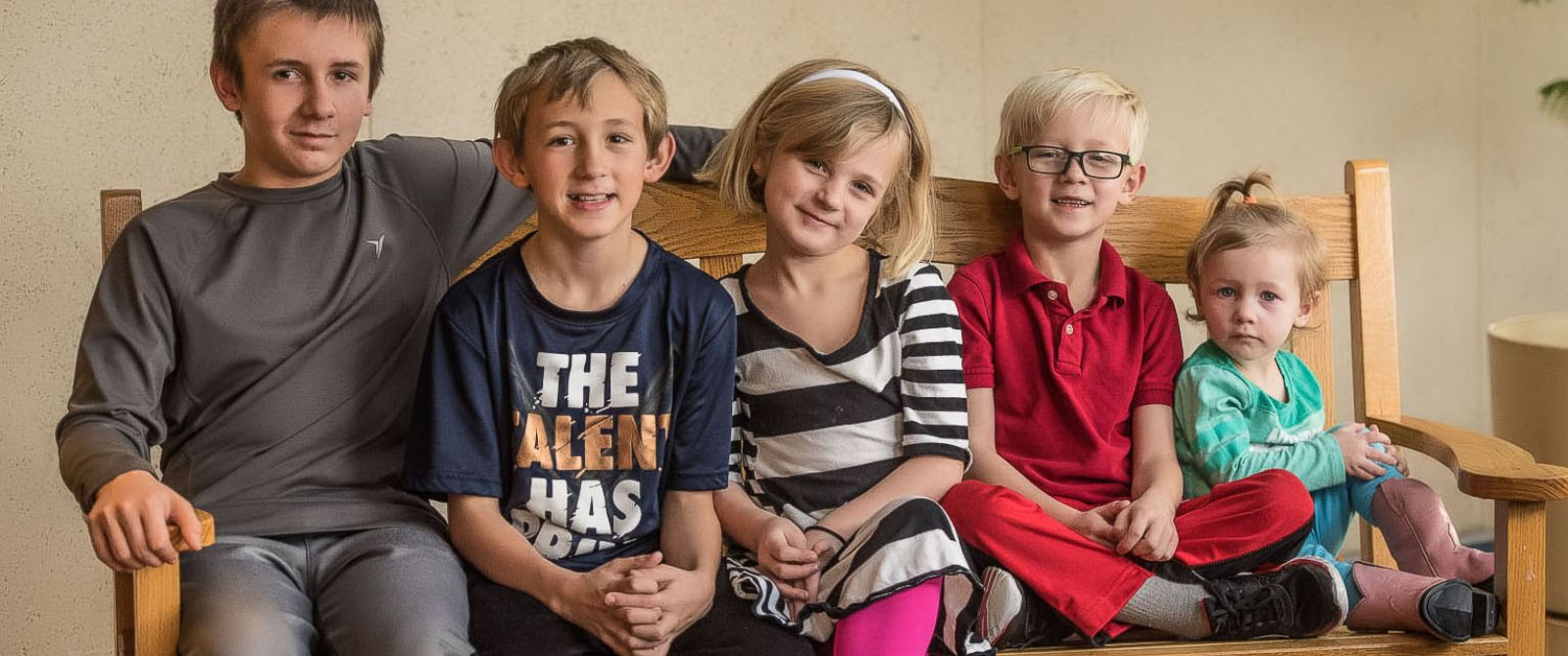 PHOTO: Five siblings in Kansas are hoping to be adopted into the same family after an incredible viral response to their story.