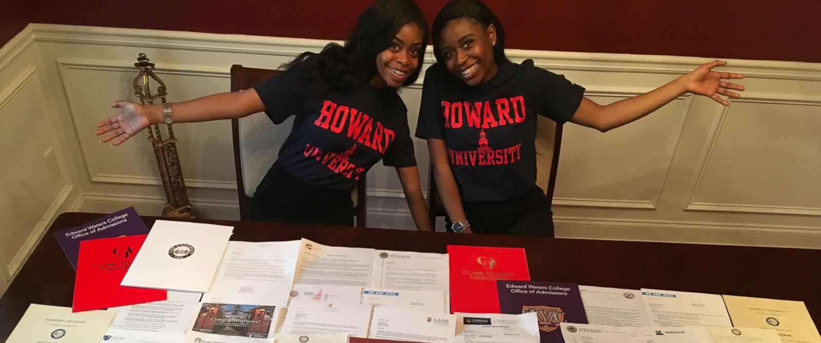 twins get accepted into 40 colleges between them receiving 900k photo 17 year old twin sisters akhya c and akhea s