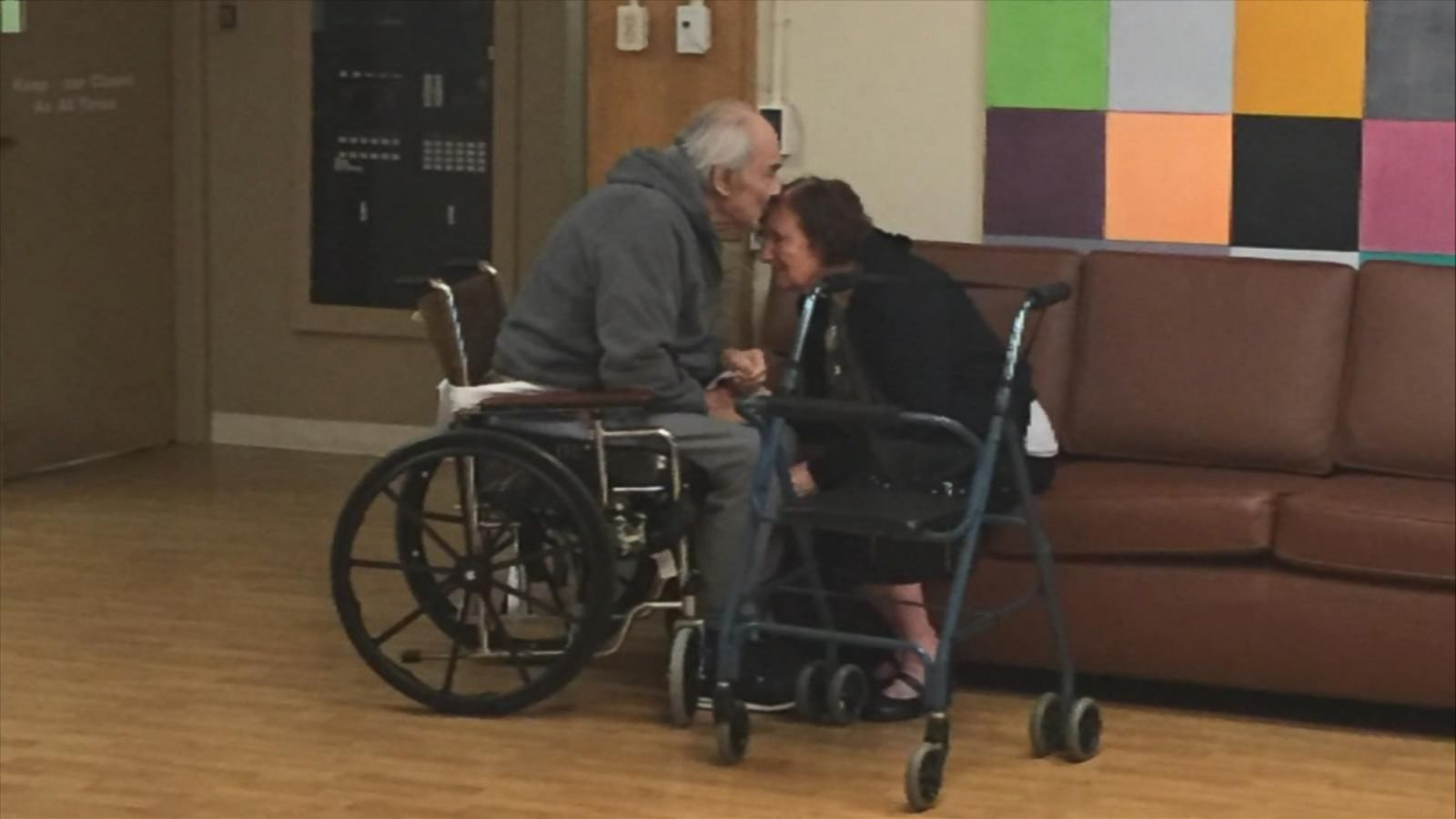 The couple has been living apart for months in separate nursing homes.