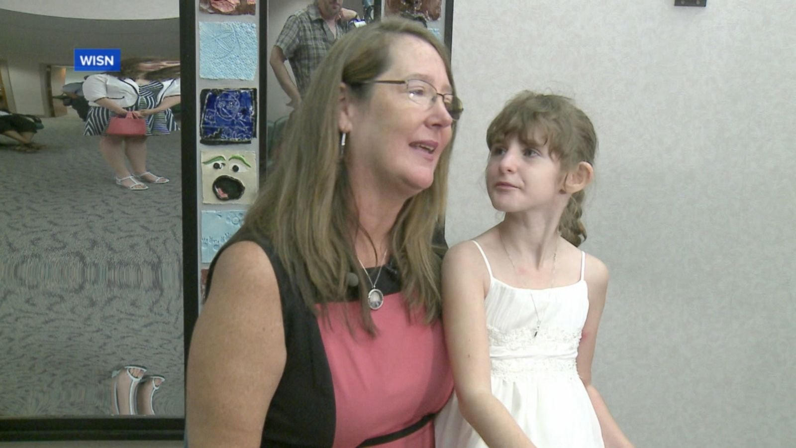 Abby Novotny's class was able to see her get adopted by her foster mom.