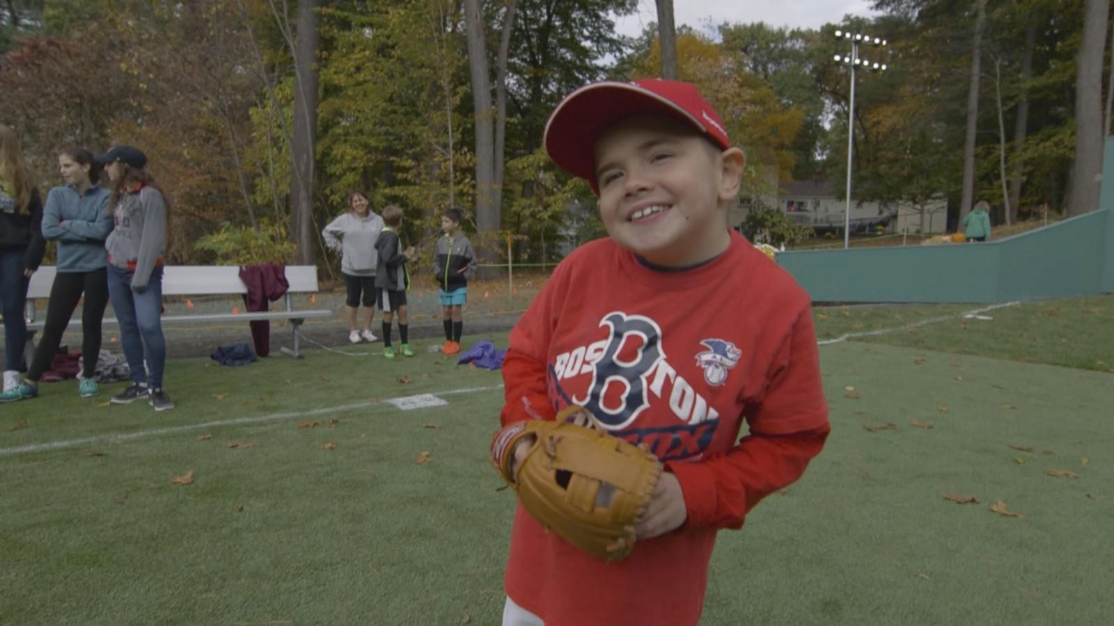 Thomas Hastings, 10, a diehard Red Sox fan, has muscular dystrophy and wanted a place to play baseball.