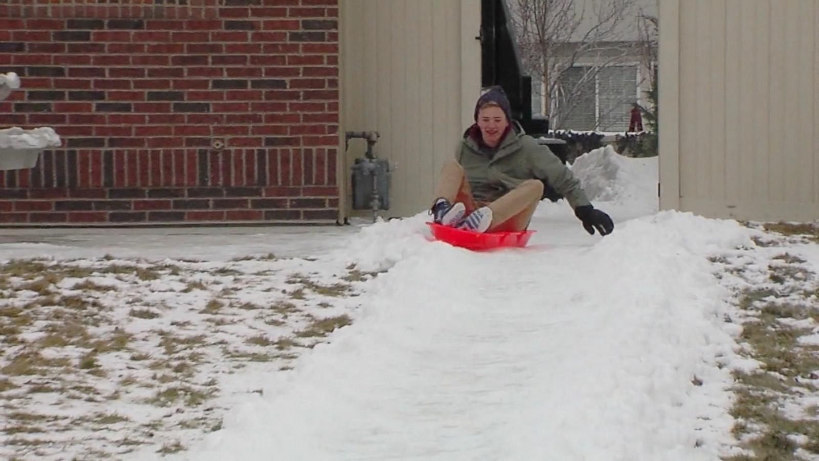 One Utah father, Thomas Williams, created a 300-foot luge run in his own backyard with the help of his 15 kids.