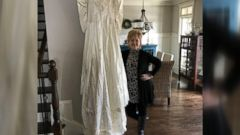 Kim Jones and Shannon McNamara had unknowingly kept each others wedding dresses for three decades.