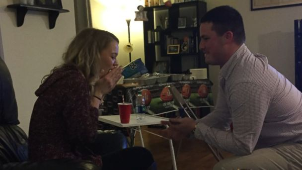 Chris Garguilo of Schenectady, New York, asked his longtime girlfriend to marry him in a previously recorded television commercial that aired during Super Bowl LI.