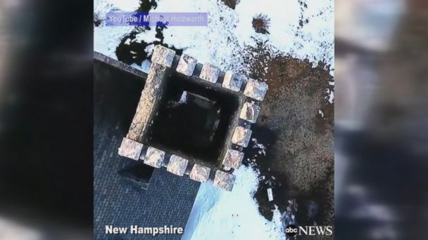Drone pilot is so skillful, he maneuvers his drone expertly through a tight chimney.