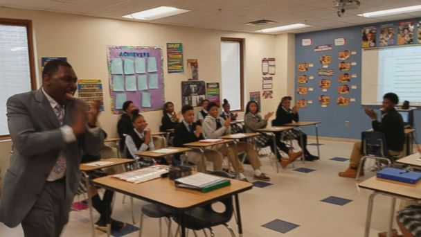 Michael Scruggs, a social studies teacher at a Memphis, Tennessee, charter school, leads every class in a mantra that begins with,
