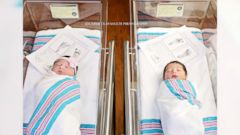 Baby Romeo and baby Juliet were delivered by the same doctor, 18 hours apart, at Coastal Carolina Hospital in Hardeeville, South Carolina.