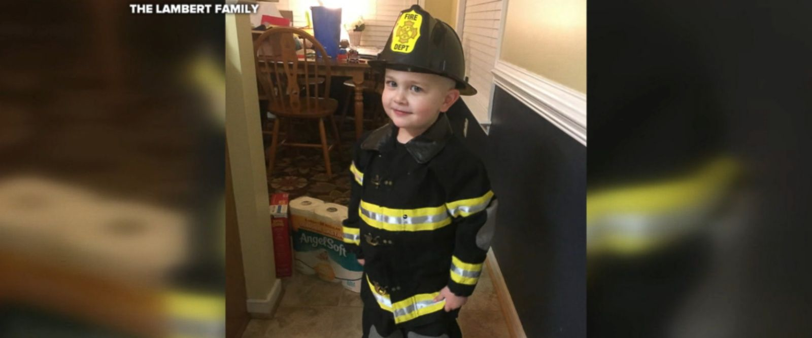 Caleb Lambert, 3, was diagnosed with stage 3 neuroblastoma on Feb. 11.
