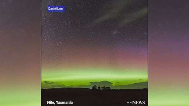 VIDEO: Stunning time lapse video captures the bold, bright lights of the Aurora Australis over Tasmania.