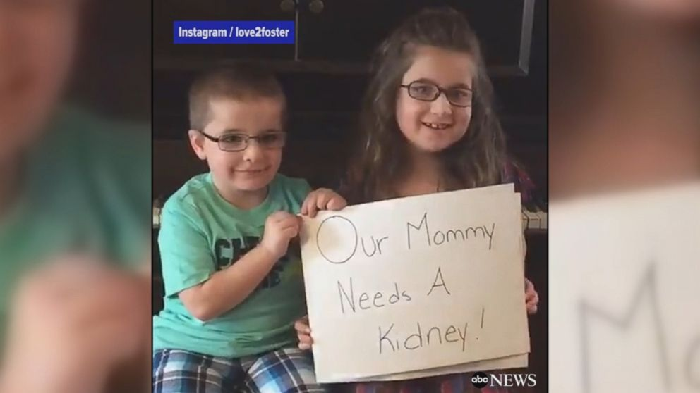 WATCH:  Kids record plea for kidney donors to save mother's life
