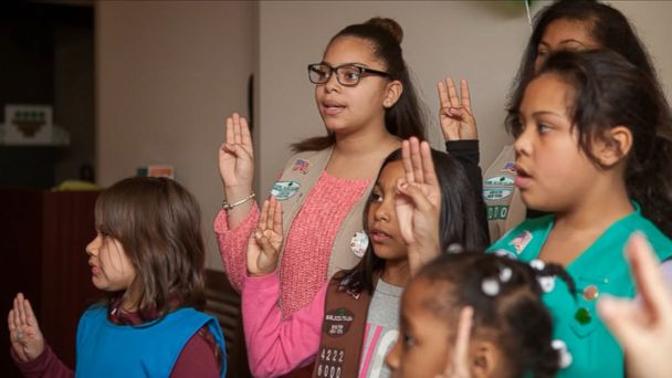 VIDEO: Troop 6000 is currently serving 23 girls in the New York shelter system.