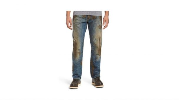 VIDEO: Nordstrom sells the jeans, which feature fake caked-on mud.