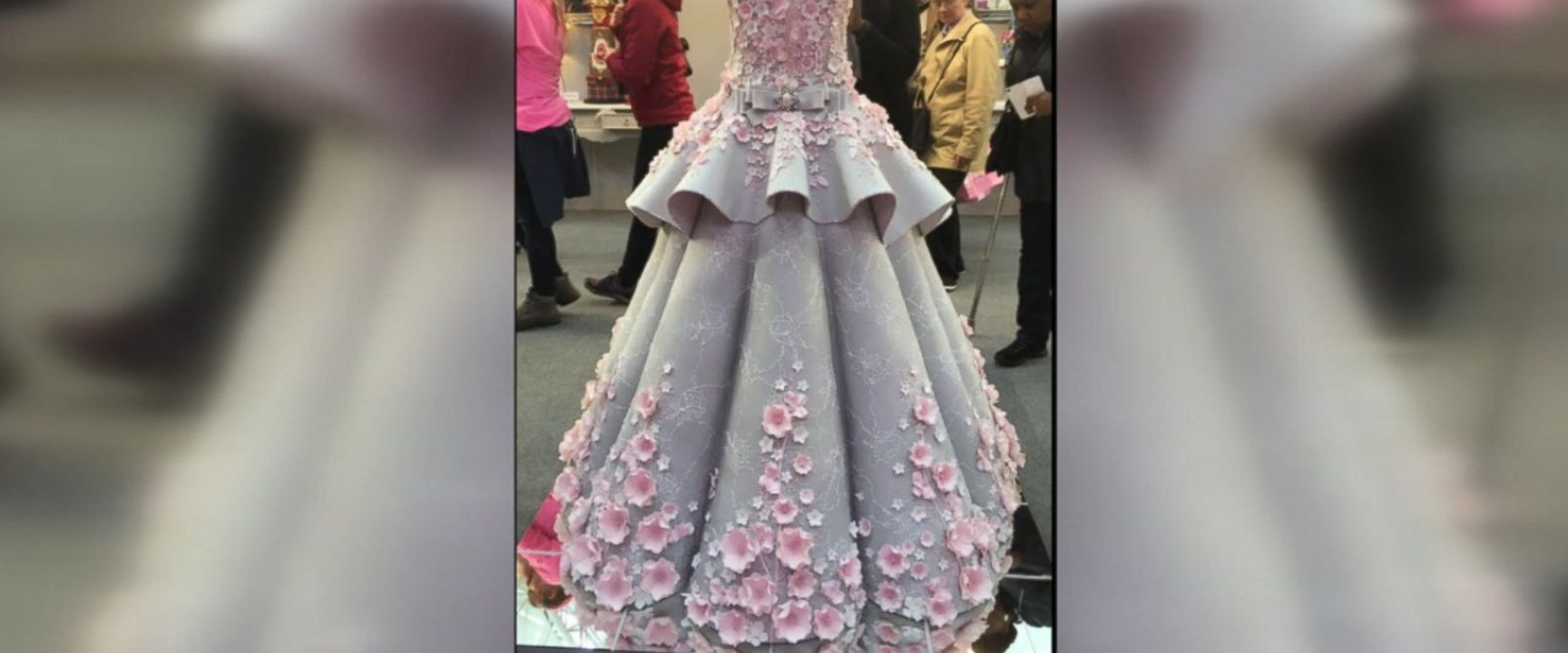 Emma Jayne Cake Design created this cake replica of a real-life Mak Tumang wedding dress using 132 pounds of fondant.