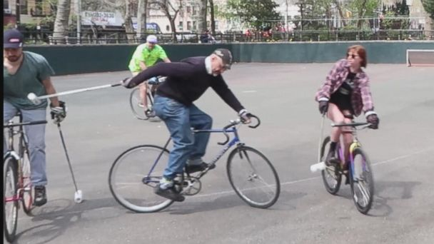 VIDEO: Bike polo and the retired 'vampire' who loves the game