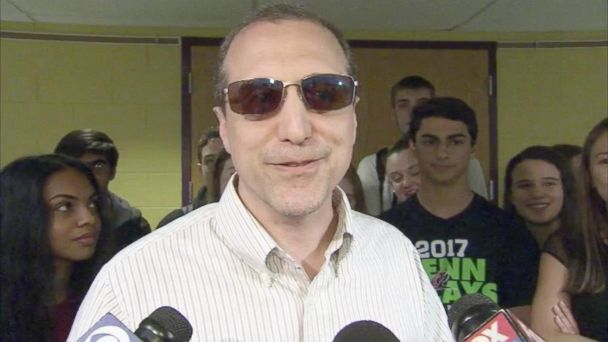 Students at Methacton High School in Eagleville, Pennsylvania, presented the glasses to their teacher during Teacher Appreciation Week.