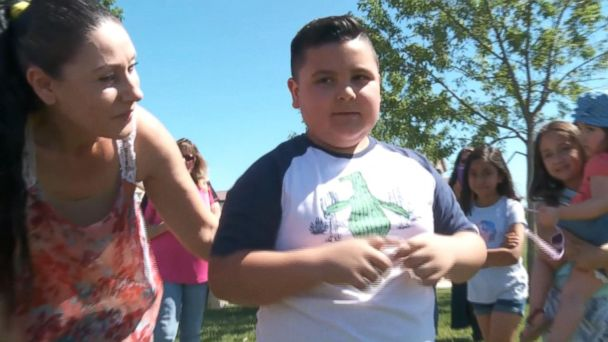 For 7-year-old Adonai Gutierrez, the second party was the charm.