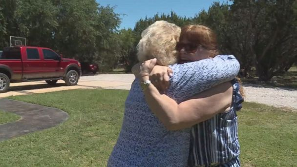 VIDEO: Sharon Glidden, 52, met her biological mother, Donna Pavey, on May 5.