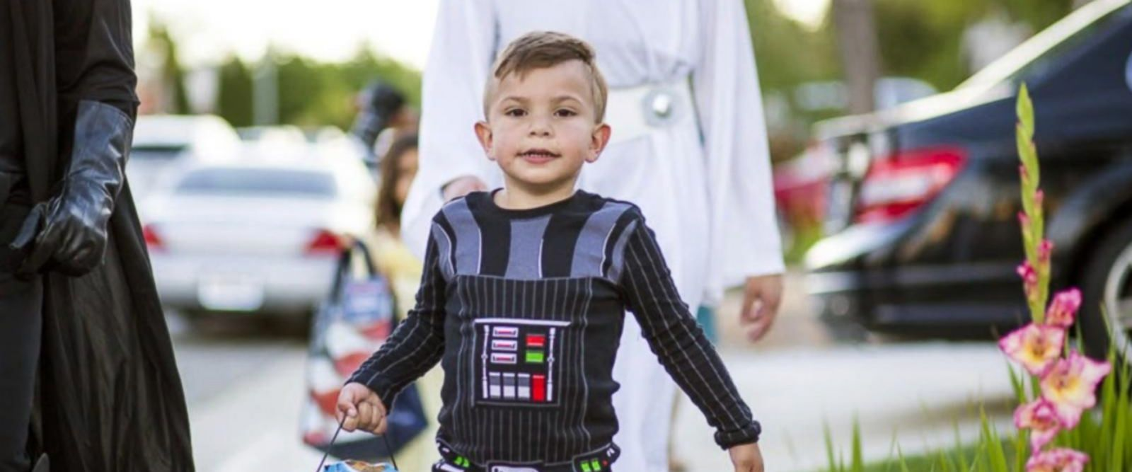 Carter Sarkar's community threw him an early Halloween party in celebration of his 5th birthday on May 21.