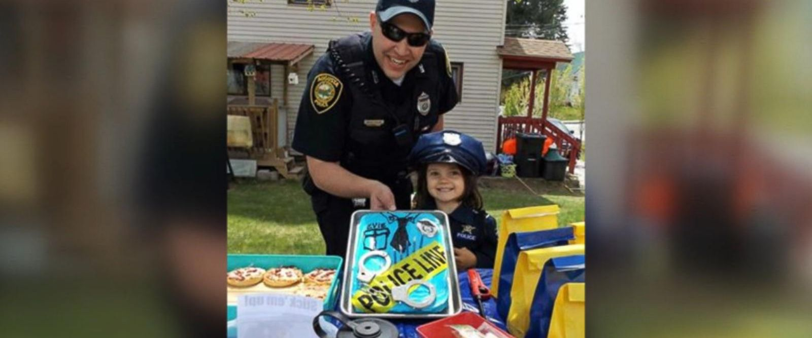 VIDEO: Little girl's favorite officer attends her police-themed birthday party