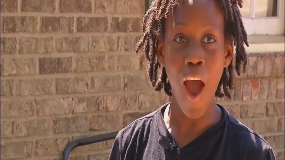 Q'yaron Gadson, 11, was given a lawnmower and weedeater by strangers impressed by his work ethic.