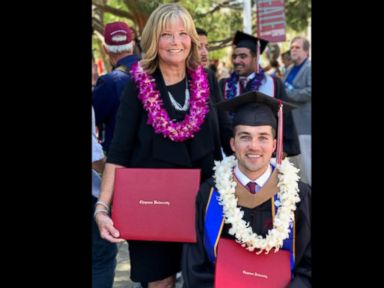 WATCH:  Mom who helped quadriplegic son complete MBA awarded honorary degree