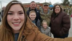 Keaton Tilson, a solider in the U.S. Army, was able to return home to Granite City, Illinois, thanks to the kindness of a stranger.