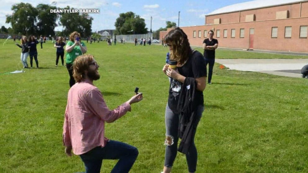 WATCH:  Students use kites to help teacher propose
