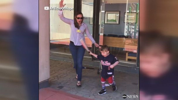 Five-year-old Ari Schultz has already had three open-heart surgeries in his short life. His reaction when he finds out he's going home after almost 200 days in the hospital will make your day.