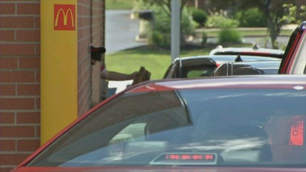 A customer in the restaurant's drive-thru lane started the chain on Father's Day.