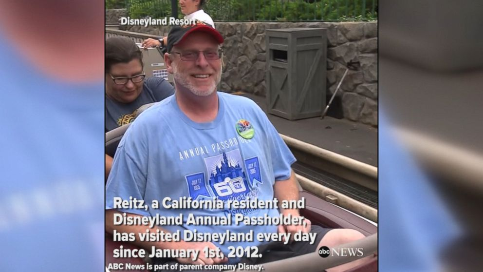 MAGICAL MILESTONE: United States Air Force veteran Jeff Reitz visited Disneyland for his 2000th consecutive day, reaching a remarkable milestone.