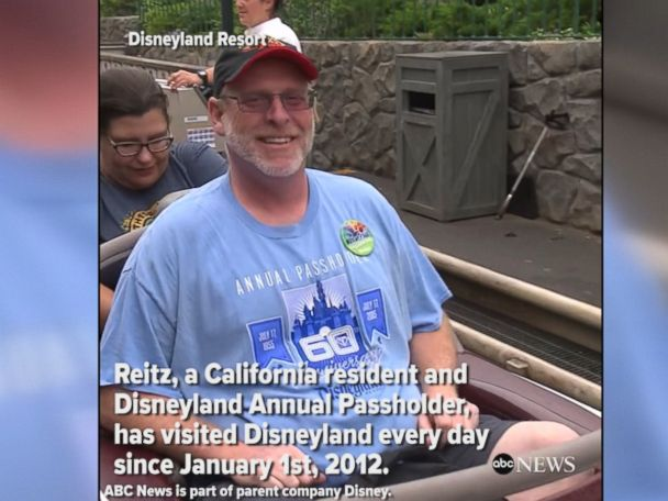 WATCH:  Air Force vet visits Disneyland for 2000th consecutive day