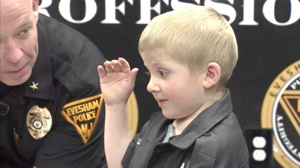 Officers in Evesham, New Jersey, helped make four-year-old Chase Gilchrist's dream come true.