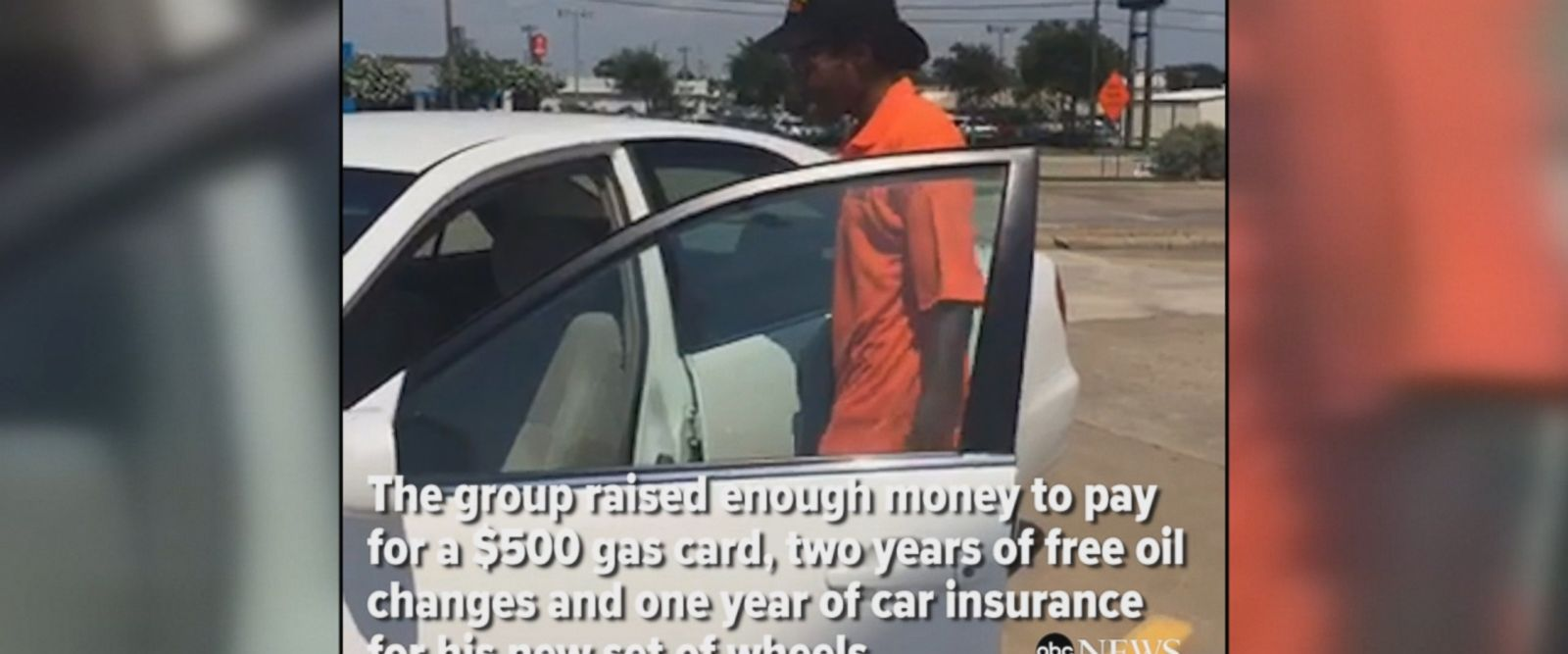 Kindhearted strangers bought a car for a hard-working man who walks three miles to work every day.