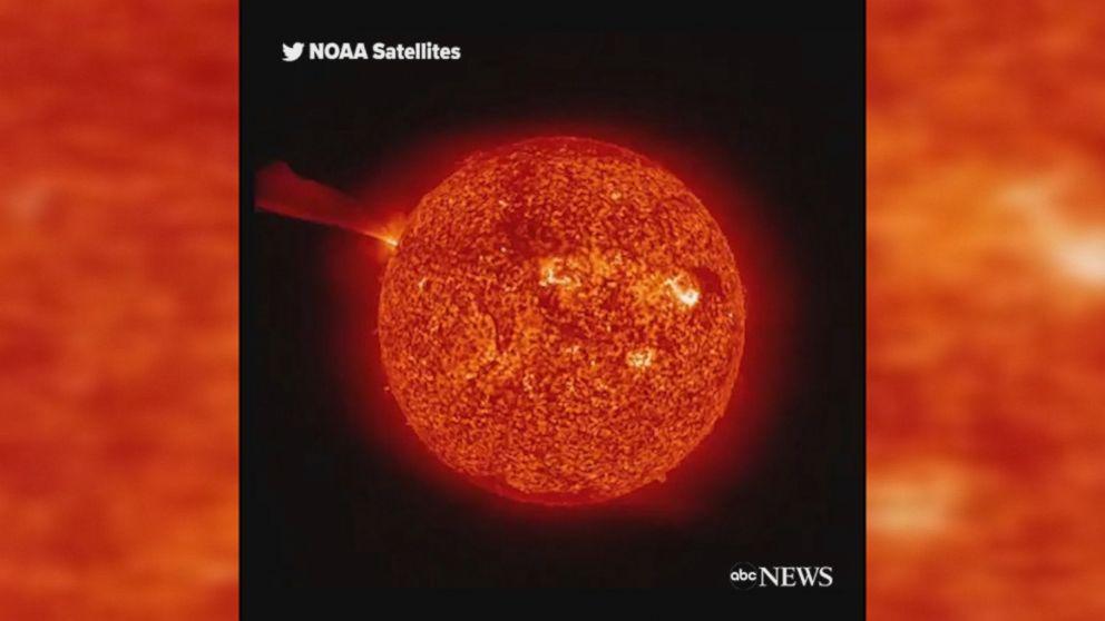 WATCH:  Massive explosion on the sun