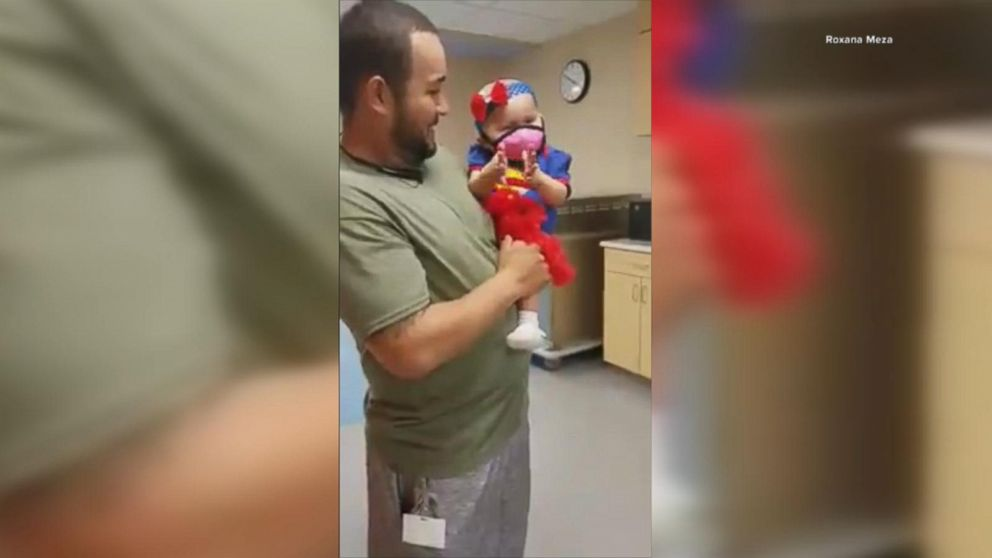 WATCH: 'Supergirl' toddler marks end of chemo by ringing bell during special send-off from hospital