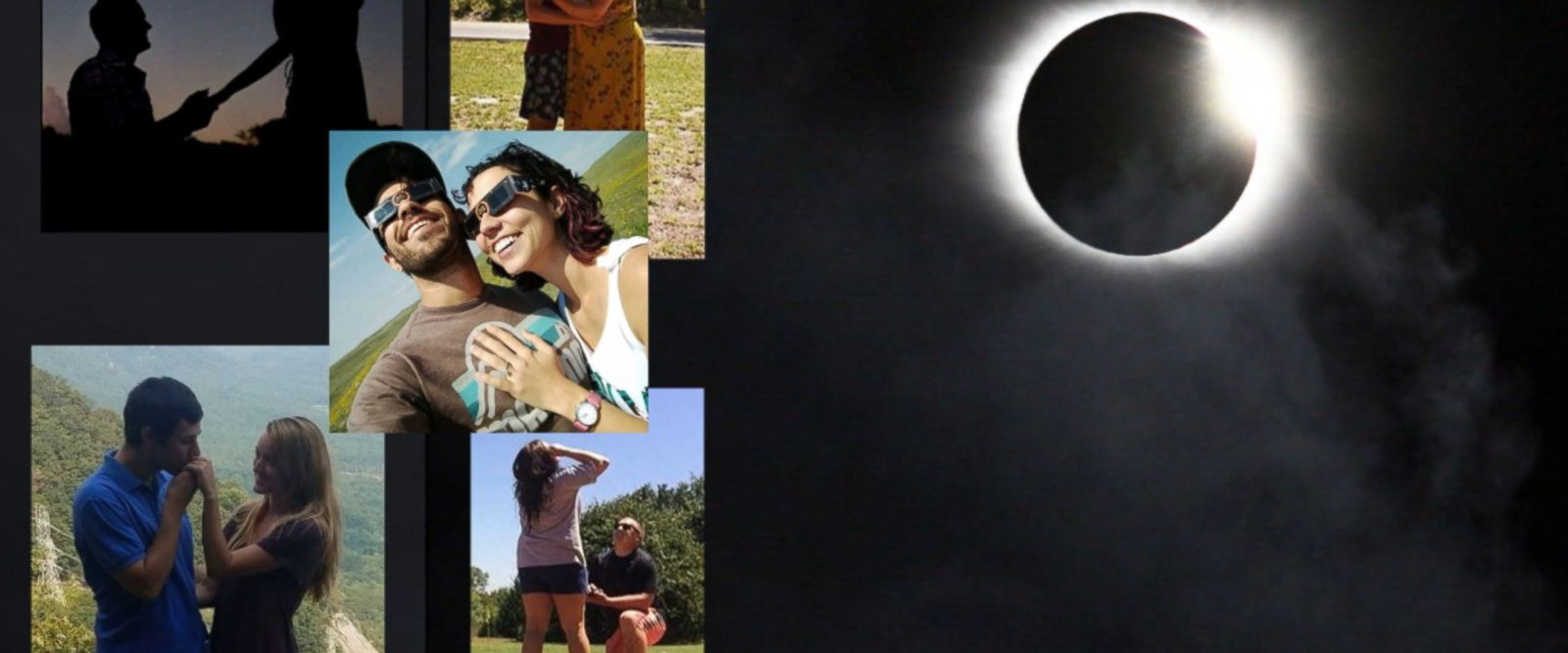 Love was in the air for many couples who got engaged during the total solar eclipse.