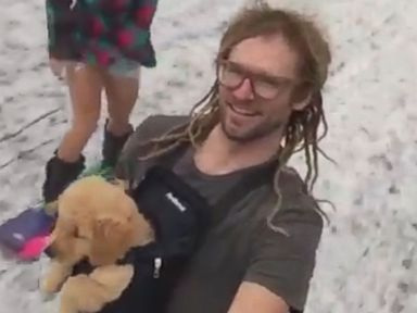 WATCH:  Former pro skier takes pup for a chilly ride