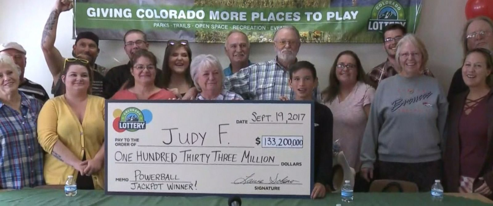 VIDEO: Judy Finchum won the $133.2 million prize playing the same numbers she has used for 30 years.