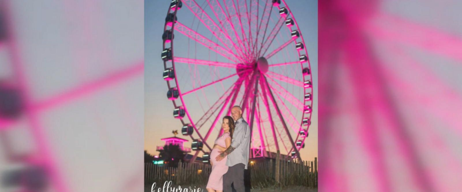Matt Ostergaard arranged the grand gesture using the SkyWheel in Myrtle Beach, South Carolina, to announce the baby's gender to their friends and family.