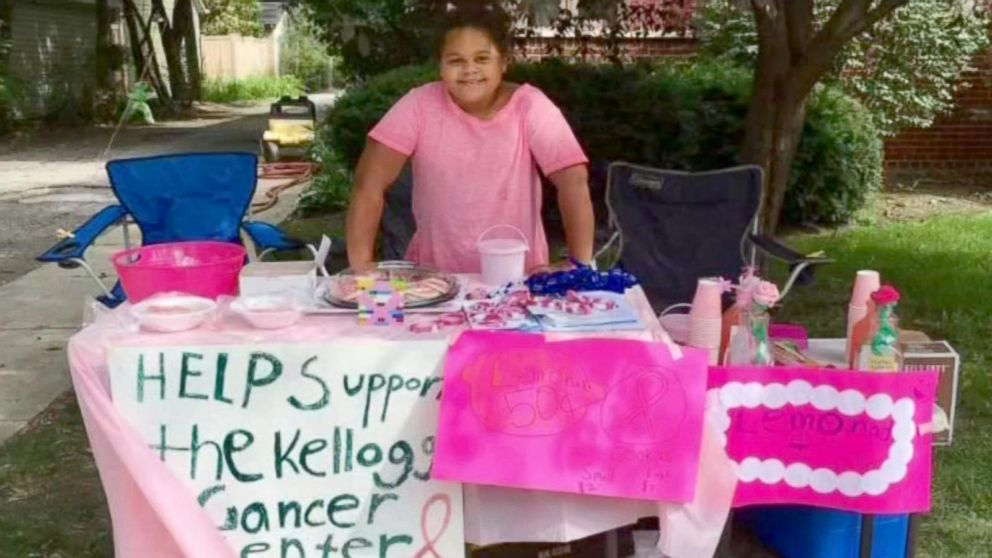 WATCH: Girl raises more than $4K after mom's breast cancer diagnosis