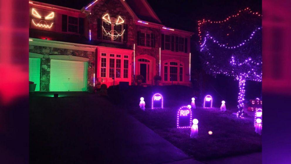 Homeowner dazzles with 16K-light Halloween display