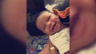 'Cruz Muse was born six weeks ago during Hurricane Irma in Miami, Florida, and has a smile that's melting hearts. A video of his adorable grin has gone viral with more than a million views on Facebook.' from the web at 'http://a.abcnews.com/images/Lifestyle/171020_vod_orig_smiling_baby_16x9_384.jpg'