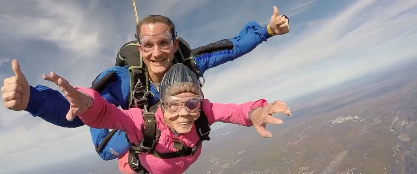 VIDEO: Eila Campbell celebrated her birthday by jumping out of a plane at 10,000 feet.