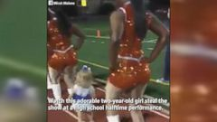Ollie Malone was captured on video dancing with the Southwood High Schools flag line and dance team in Shreveport, Louisiana.