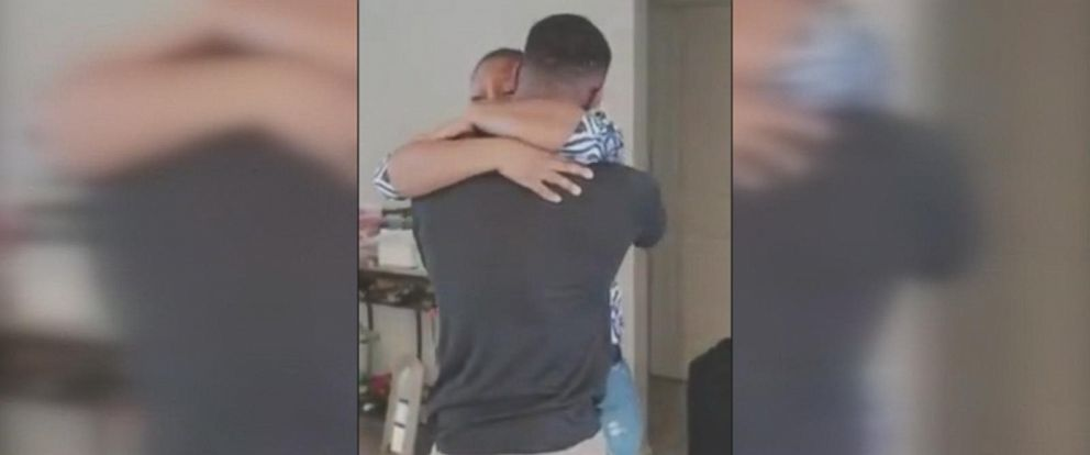 Rekita Lee got the surprise of a lifetime when her son, TreVaughn Lee, a Marine, arrived home from deployment to Japan.