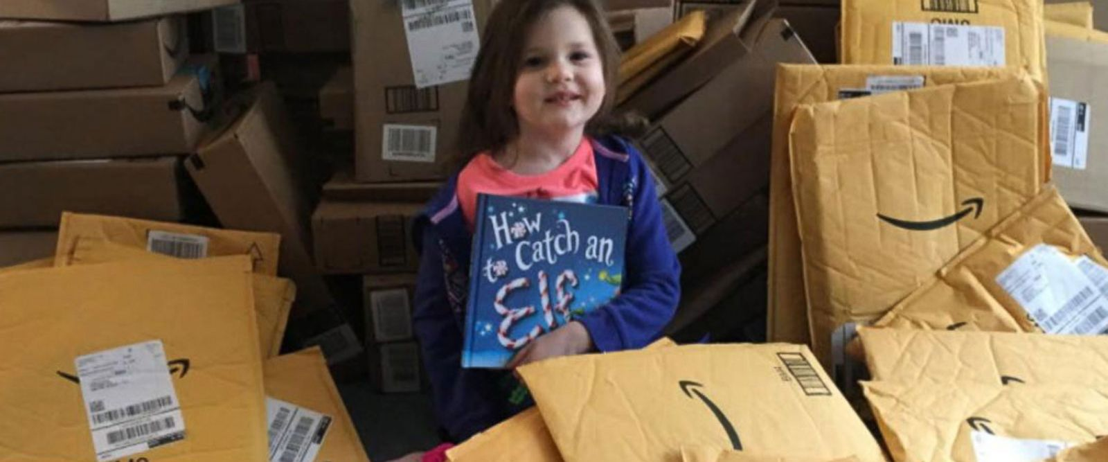 VIDEO: 4-year-old girl receives hundreds of books for Lena's Library while battling brain cancer