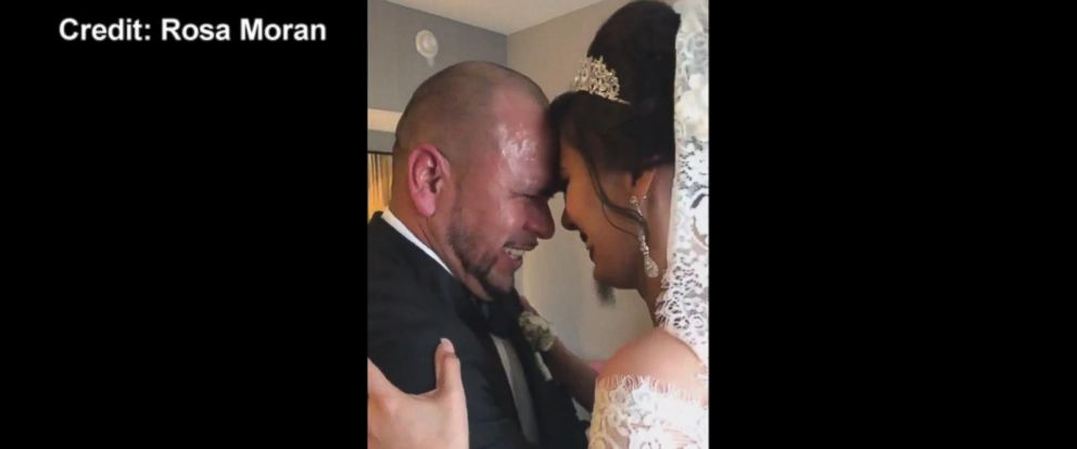 VIDEO: Father of the bride fails to hold back tears when seeing his daughter on wedding day