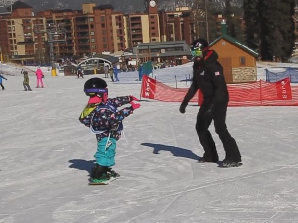 WATCH:  10-year-old amputee gets snowboard lessons from Paralympian