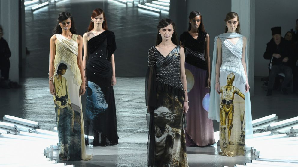 PHOTO: Models pose on the runway at the Rodarte fashion show during Mercedes-Benz Fashion Week Fall on Feb. 11, 2014 in New York City.